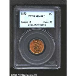 1893 1C MS65 Red PCGS.