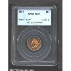 1859 1C PR65 PCGS.