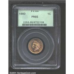 1860 1C PR65 PCGS.