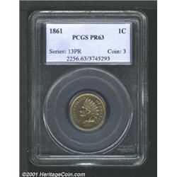 1861 1C PR63 PCGS.