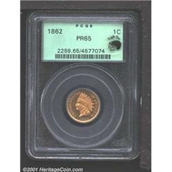 1862 1C PR65 PCGS.