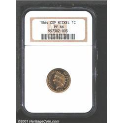 1864 1C Copper-Nickel PR66 NGC.