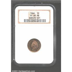 1866 1C PR66 Red and Brown NGC.