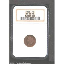1868 1C PR65 Red and Brown NGC.