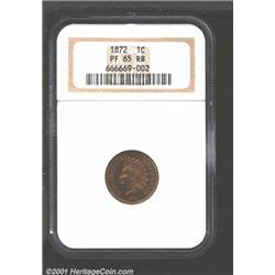 1872 1C PR65 Red and Brown NGC.