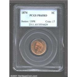 1874 1C PR65 Red PCGS.