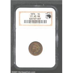1876 1C PR65 Red and Brown NGC.