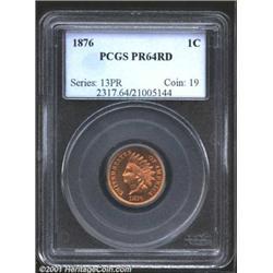 1876 1C PR64 Red PCGS.