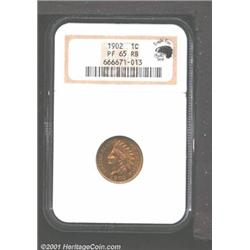 1902 1C PR65 Red and Brown NGC.