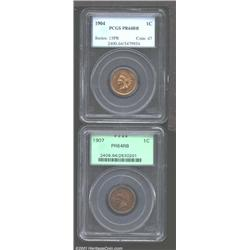 1904 1C PR64 Red and Brown PCGS, bright and sparkling with just a hint of browning; and a 1907 PR64