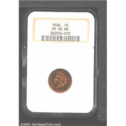 1906 1C PR65 Red and Brown NGC.