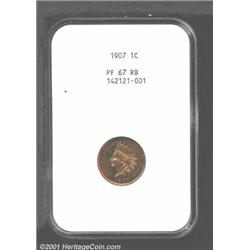 1907 1C PR67 Red and Brown NGC.