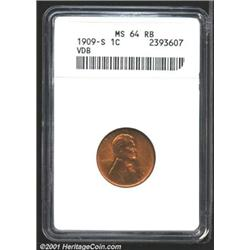 1909-S VDB 1C MS64 Red and Brown ANACS.