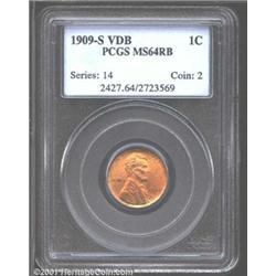 1909-S VDB 1C MS64 Red and Brown PCGS.