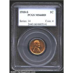 1910-S 1C MS66 Red PCGS.