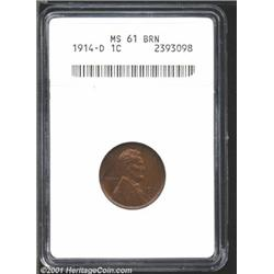 1914-D 1C MS61 Brown ANACS.