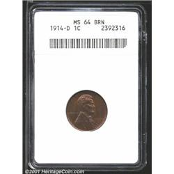 1914-D 1C MS64 Brown ANACS.