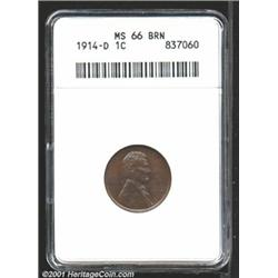 1914-D 1C MS66 Brown ANACS.