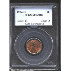 1914-D 1C MS65 Red and Brown PCGS.