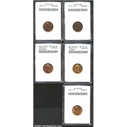 1914-S 1C MS62 Brown ANACS, from a better date and nearly abrasion-free but with many carbon flecks;