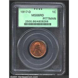 1917-D 1C MS66 Red PCGS.