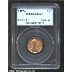 1917-S 1C MS64 Red PCGS.