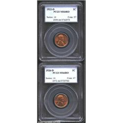 1922-D 1C Cent MS64 Red PCGS, exceedingly lustrous and sharp with some minor carbon on each side; an