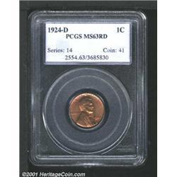1924-D 1C MS63 Red PCGS.