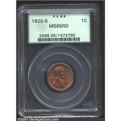 1925-S 1C MS65 Red PCGS.