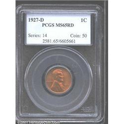 1927-D 1C MS65 Red PCGS.
