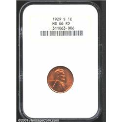 1929-S 1C MS66 Red NGC.