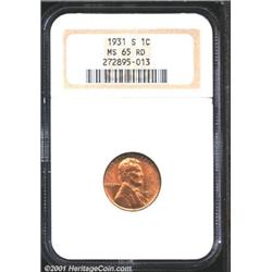 1931-S 1C MS65 Red NGC.