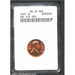 1972/72 1C Doubled Die MS65 Red ANACS.