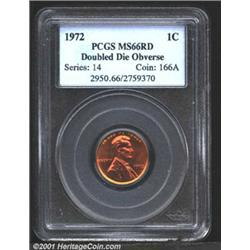 1972/72 1C Doubled Die MS66 Red PCGS.