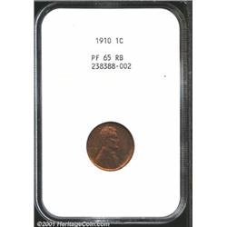 1910 1C PR65 Red and Brown NGC.