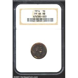 1914 1C PR64 Red and Brown NGC.