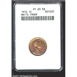 1916 1C PR63 Red and Brown ANACS.