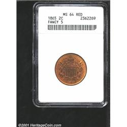 1865 2C MS64 Red ANACS.