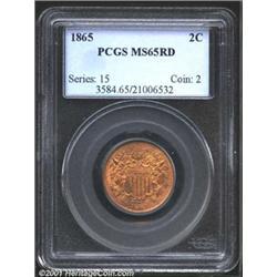 1865 2C MS65 Red PCGS.