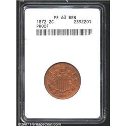 1872 2C PR63 Brown ANACS.