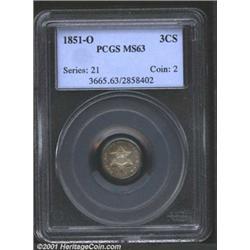 1851-O 3CS MS63 PCGS.
