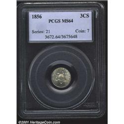 1856 3CS MS64 PCGS.