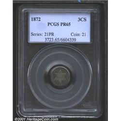 1872 3CS PR65 PCGS.