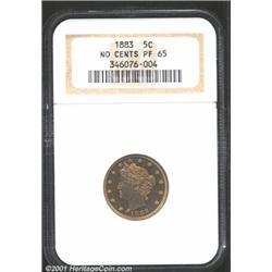 1883 5C No Cents PR65 NGC.