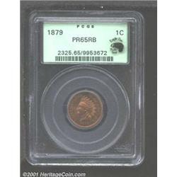 1879 1C PR65 Red and Brown PCGS.