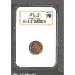 1879 1C PR66 Red and Brown NGC.
