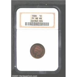1880 1C PR66 Red and Brown NGC.