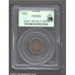 1882 1C PR65 Red and Brown PCGS.