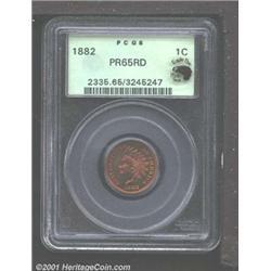 1882 1C PR65 Red PCGS.