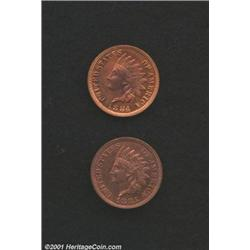 1884 1C Cent PR60 Red and Brown Questionable Color, Uncertified, sharp with multicolored red and blu